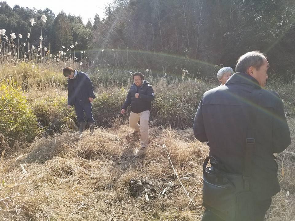 南山城村の耕作放棄地再生と新しい特産物を栽培するための予定地の視察を、行いました!